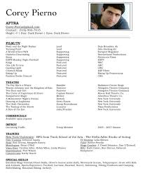 acting resume latest resume format audition resume format bitwinco audition resume format