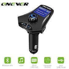 ONEVER <b>Multifunction</b> Bluetooth Car FM Transmitter Modulato <b>MP3</b> ...