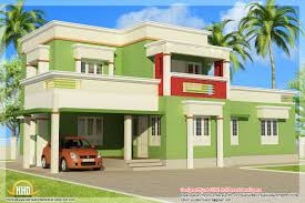 Simple bedroom flat roof home design   sq ft    Kerala home    View of simple flat roof house