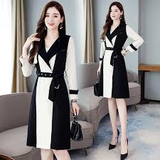 <b>Elegant Harajuku Trench coat</b> Women Autumn Long sleeved Casual ...