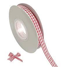 "Tatibana Red <b>Gingham Ribbon</b>, <b>1</b>/4"" Wide Craft <b>Ribbon Checkered</b> ..."