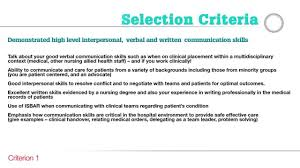 careers guide to addressing the nursing and midwifery selection careers guide to addressing the nursing and midwifery selection criteria