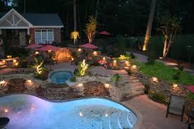 decorative shade white outdoor lights backyard landscape lighting