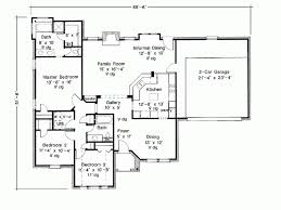 Eplans French Country House Plan   Three Bedroom French Country    Level