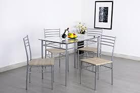 krasavic piece kitchen dining table krasavic  piece home dining kitchen furniture set metal frame table wi