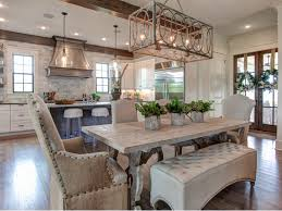 dining table room farmhouse aged  ideas about farmhouse table with bench on pinterest kitchen table wit