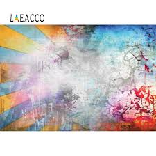 <b>Laeacco</b> Abstract <b>Colorful Brick</b> Wall Photographic Backdrops Photo ...