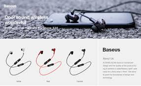 <b>Baseus</b> S30 Bluetooth 5.0 Earphone <b>Wireless</b> Earphone Sport ...