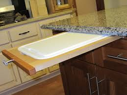 Kitchen Cabinet Slide Out How To Install A Pull Out Cutting Board In Kitchen Cabinet
