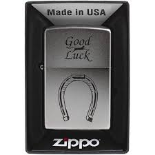 <b>Зажигалка Zippo 205 Horse Shoe</b> Satin Chrome Бензиновая ...
