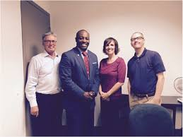 Rayford Barner with his dissertation committee  following his successful defense  Dr  R James Breunlin  Clinical Assistant Professor at LUC     s School of     RU Training   Roosevelt University in Chicago
