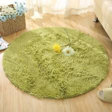 <b>Long Hairy Round Floor</b> Mats Fluffy Bathroom Carpets Solid Color ...