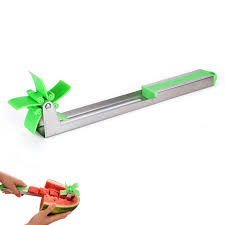 Kitchen Fruit <b>Watermelon Knife Slicer Stainless</b> Steel <b>Windmill</b> ...