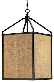 burlap asian pendant lights lantern classic houzz formidable white black chain asian inspired lighting