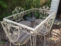 zoom antique rod iron patio
