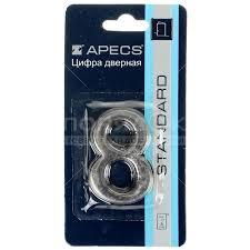 <b>Номер на дверь Apecs</b> «8» DN-01-8-Z-CR в Южно-Сахалинске ...