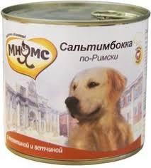 <b>Консервы</b> для собак <b>Мнямс Сальтимбокка по-Римски</b> (телятина с ...