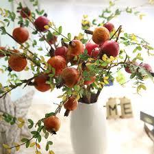 Zinmol <b>Artificial</b> pomegranate Plastic Fruit Branch <b>Artificial</b> Plant ...