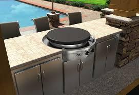 outdoor kitchen island kits top