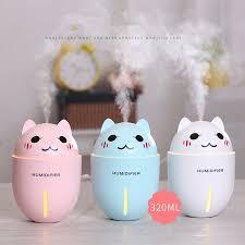 3 in 1 Multifunction USB Dekstop Diffuser <b>Cartoon Cat</b> Air <b>Humidifier</b> ...