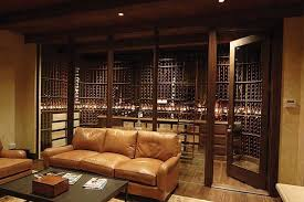 cool glass enclosed mahogany wine cellar rustic wine cellar by wine home design ideas and design mahogany wine cellars traditional wine cellar