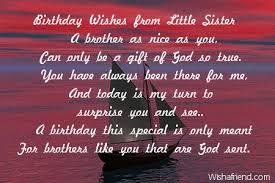 Brother Birthday Poems via Relatably.com