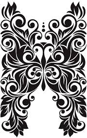 <b>Beautiful Decorative Butterfly</b> With Flowers And Leaves Stock Vector ...
