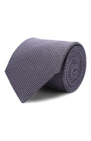 Мужской сиреневый <b>шелковый галстук HUGO</b> — купить за 5600 ...