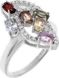 <b>Кольцо</b> Balex Jewellery из серебра с аметистом, топазом ...