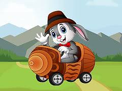<b>Cartoon Animals</b> In Cars Match 3 - free online game