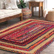<b>Braided Area Rug</b> - Colorful Contemporary <b>Design</b> - Loomkart.com