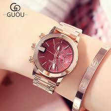 <b>New famous brand GUOU</b> Watch Women Casual simple Quartz ...