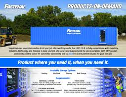 fastenal set to upend industrial vending again new pods check out fastenal s p o d line card below