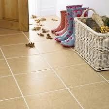 beige tile floor bathroom