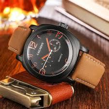 <b>Cagarny 6833 Men's Leather</b> Quartz Watch #Ad , #affiliate, #Men ...