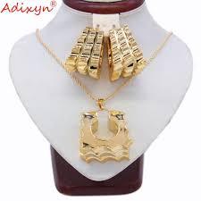 <b>Adixyn</b> Two Desigh <b>Square</b> Earrings/Pendant/Necklace Rose <b>Gold</b> ...