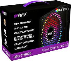 <b>Блок питания 750W Hiper</b> HPB-750RGB