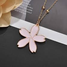 Shop Petal <b>Earrings</b> Necklace Set <b>New Women's</b> Sweet Beauty ...