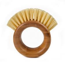 Full Circle <b>The Ring Veggie Brush</b> - Bamboo - Full Circle