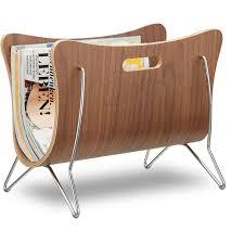Relaxdays Wooden <b>Newspaper Stand</b>, Bentwood, <b>Magazine Rack</b> ...