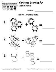 Christmas Addition Worksheet - Free Kindergarten Holiday Worksheet ...Kindergarten Christmas Addition Worksheet Printable
