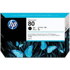 Genuine OEM HP <b>80 Black</b> Ink Cartridge 350ml for <b>HP Designjet</b> ...