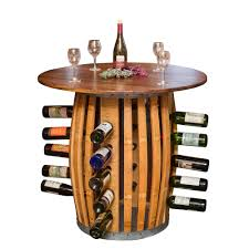 stave and hoop table wine rack arched napa valley wine barrel