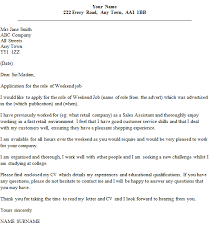 weekend job cover letter example icoverorguk writing a speculative cover letter