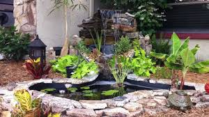 diy patio pond:  stone border ponds diy small backyard ponds with waterfall ideas