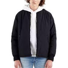 <b>Levi's</b> Black <b>Hyde Quilted</b> Bomber Jacket | Evolve Clothing ...