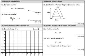 GCSE maths revision worksheet 3maths worksheet 1