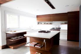 inspiration for a contemporary kitchen remodel in toronto with open cabinets dark wood cabinets paneled appliances white backsplash and glass sheet cabinet lighting backsplash home design