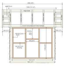Free playhouse plans  Rear and side elevation planplayhouse plan side elevation