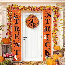 3Pcs <b>Halloween</b> Trick or Treat <b>Door Banner</b> Hanging Flag <b>Couplet</b> ...